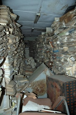 Presidential Archives basement room in the Executive Mansion in Liberia (copyright of K.A. MacDonald)